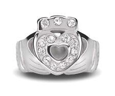 Celtic Irish Claddagh Beads / Claddagh Charms CZ For European Charm Bracelets
