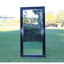 Europe palace style Embossed Wall Mirror Jet Black Wooden frame 150CM X 74CM