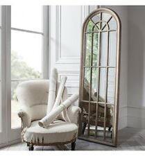 """Curtis Large Shabby Chic Vintage Arched Long Wall Floor Window Mirror 70""""x24"""""""