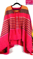 Mexican Poncho Mexico Cowboy Bandit Wild West Fancy Dress Costume Party 12468