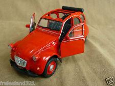Citroën 2CV  Ente Cabrio Farbe Rot Modellauto Spielzeugauto 1 : 38 Neu