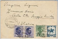 ROMANIA -  POSTAL HISTORY :  COVER to ITALY 1940