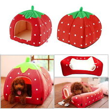 Soft Pet Dog Puppy Cat Bed Igloo House Mat Kennel Doggy Warm Cushion Basket Pad