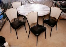 midmod Table Chairs Dinette Set  Retro Vintage Kitchen Dining Mid Century Modern