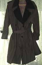 Brown black coat  size M / L With wool. Check the exact size in description.