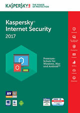 KASPERSKY INTERNET SECURITY 2017 1 PC / Geräte  1 Jahr Vollversion