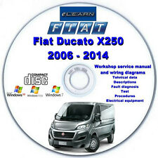 Fiat Ducato X250 2006 - 2014 eLearn – Multilingual Factory Repair Manual CD