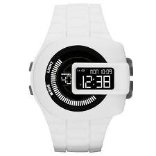 BRAND NEW DIESEL DZ7275 VIEWFINDER WHITE SILICONE STRAP BLACK DIGITAL DIAL WATCH