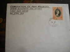 KUT 1953 CORONATION Official  First day cover - Mombasa - no address