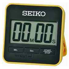 NEW GENUINE SEIKO DIGITAL COUNTDOWN TIMER & STOPWATCH BLACK / YELLOW - QHY001Y