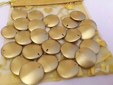 35 x gorgeous Frosted Acrylic Gold Disc 2 hole Spacer 20mm