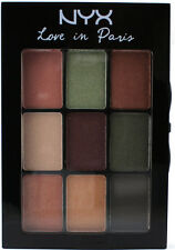 NYX Eyeshadow Palette LIP07 PARDON MY FRENCH Love in Paris Green Tan Grey Purple