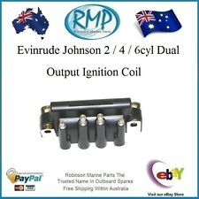 A Brand New Evinrude Johnson 2 / 4 / 6cyl Dual Output Ignition Coil # 583740