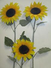 Deko 6 x künstliche Sonnenblume 105 cm Seidenblumen künstlich Floristik wie echt
