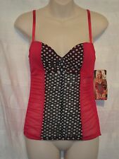 29082, Shirley of Hollywood - Corset - Red/Black/White Polka-Dot - Size 34B/C