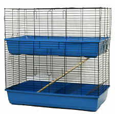 2 Tier Rabbit Cage Guinea Pig Hutch Indoor Pet Small Animal House Home Bunny Pen