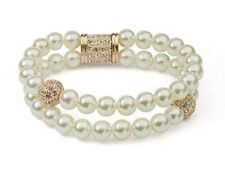 GORGEOUS 18K ROSE GOLD PLATED & GENUINE AUSTRIAN CRYSTAL AND PEARL BRACELET