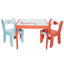 Labebe Squirrel Fox Table and 2 Chairs Set Furniture Playroom Studyroom Wood