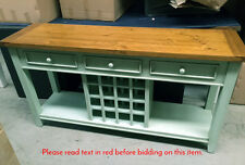 Large Rustic Green Timber Vintage Look Wine Rack Kitchen Dining Furniture NEW
