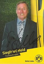 Autogramm Siegfried Siggi Held Fußball Borussia Dortmund Vize Weltmeister 1966