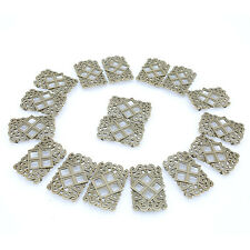 10pcs Hollow New Charms Vintage Bronze Diamond& S Alloy Connector Pendant BS