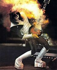 ACE FREHLEY GUITAR SMOKING 8X10 GLOSSY PHOTO PICTURE