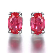 JewelryPalace New 0.60ct Hot Sale Ruby Earrings Stud Solid 925 Sterling Silver