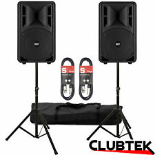 RCF ART 310A MKlll Active Two-Way Speakers 1600W PAIR + FREE Stands Bag Leads UK