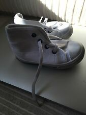 Boys White Trainer Boots Size 4 Infant