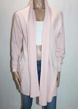 TRENERY Designer Pink Cashmere Wool Long Sleeve Cardigan Size XL BNWT #SL48