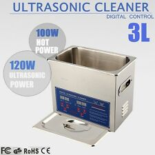 3L Stainless Steel Ultrasonic Cleaner with Heater Mechanical Commercial Grade