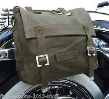 Satteltasche Toolbag Motorrad Werkzeugrolle Tasche Chopper Harley Dunkeloliv