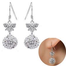 Elegant Frauen Silber überzogen Ohrringe Diamant-Schmetterlings Anhänger CATH
