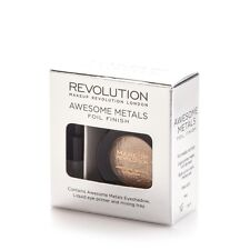 MakeUp Revolution Awesome Metals Foil Finish Eyeshadow Rose Gold 1.5g New Boxed