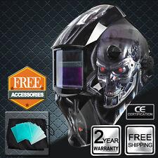 Solar Powered Auto Darkening Welding Helmet welders Mask Grinding ARC TIG MIG UK