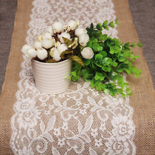 Nice 30cm×108cm Burlap Jute Linen Table Runner Party Wedding Decoration Products