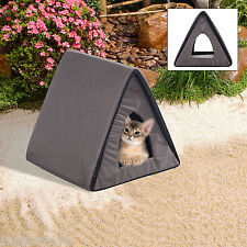 PawHut Waterproof Triangle Kitty Cat House Pet Kitten Indoor Outdoor w/ 2 Door