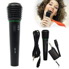 Undirectional Wired & Wireless Handheld Microphone Cordless Mic Receiver System