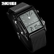 SKMEI S-SHOCK Quartz Wristwatch LED Digital Analog 50M Waterproof Military Watch