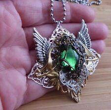 Amulett fairy steampunk gothic walküre valkyrie arwen vintage anhänger kette