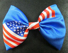 USA America Flag Bow Tie On Elastic Fancy Dress Countries Around The World