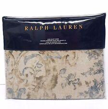 RALPH LAUREN Corso Campania KING DUVET COVER NWT Floral Scroll COTTON Blue Navy