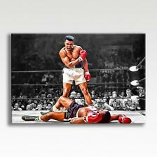 "MUHAMMAD ALI CANVAS vs Sonny Liston Photo Poster Print Wall Art 30""x20"" CANVAS"