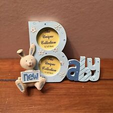 New Baby Photoframe Photo Frame Babies Picture Frame Blue Bunny Rabbit Design