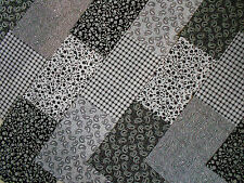 """Fabric Charm Pack 5"""" Patchwork Quilting Squares 100% Cotton Black Paisley Mix"""