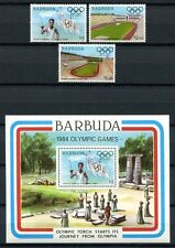 BARBUDA 1984 Olympiade Olympics Los Angeles 739-41 + Block 85 **