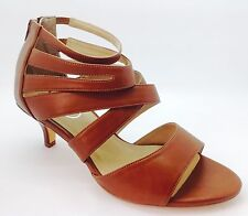 Large Size Ladies Brown Leather Strap Ankle Shoe Boots Size UK9 EU 43 DRAG TV CD