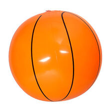 New 25cm Inflatable Orange Basketball Beach Ball Sports Blow Up Pool Novelty Toy