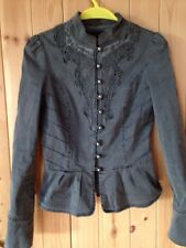 Miss Selfridge Steampunk Military Lace Trim Victorian Fitted Jacket 8
