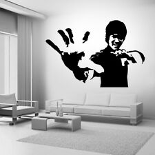 Bruce Lee Fight Star Karate Quote Wall Stickers Art Room Removable Decals DIY